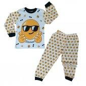 Erkek Çocuk Emoji Modelli Pijama Takımı