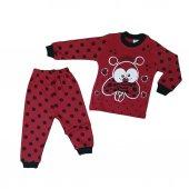 Kız Çocuk Uğur Böceği Modelli Pijama Takımı