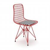 Knsz kafes tel sandalyesi 1 li mazlum krmkono ofis cafe bahçe mutfak