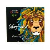 Hayvanlar Alemi Karatay Yayınları Mandala 72 Sayfa Boyama Kitabı