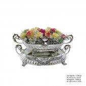 925 Ayar Çiçekli Pirmoda Gümüş Jardinyer