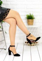 Olena Siyah Süet Topuklu Ayakkabı-2