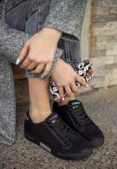 Seny Siyah Süet Spor Ayakkabı-2