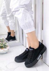 Seny Siyah Süet Spor Ayakkabı-4