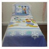 Taç Lisanslı Disney Mıckey Snow Tek Kişilik...