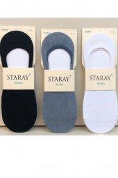Staray Erkek Bambu Silikonlu Babet Çorap 6 Lı...