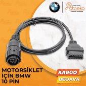 Bmw 10 Pin Obd2 Dönüştürücü Kablo Motosiklet İçin Motorscan Elm327