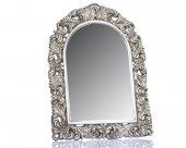 Porio M64-126 - Motifli Gümüş Ayna 123*91