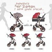 Huggy Queen 2 İn 1 Mono Bebek Arabası-3