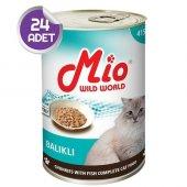 Mio Balıklı Kedi Konservesi 415 Gr X24 Adet