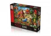 Ks 3000 Parça Puzzle Bird House Gardens