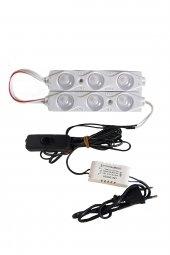 Akvaryum 2'li Modül LED Aydınlatma Beyaz Işık Anahtarlı
