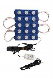 Akvaryum Modül LED Aydınlatma Mavi Işık Anahtarlı 5'li