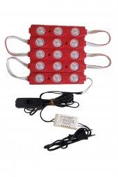 Akvaryum Modül LED Aydınlatma Kırmızı Işık Anahtarlı 5'li