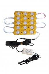 Akvaryum Modül LED Aydınlatma Sarı Işık Anahtarlı 5'li