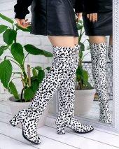 Rafela Beyaz Leopar Desenli Çizme