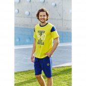 Fenerbahçe 9097 Lisanslı Erkek Bermuda Pamuklu Pijama Takım