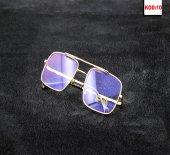 Reynmen Pilot Gözlük Mor Cam Sarı Çerçeve