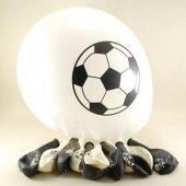 Top Desenli Balon Siyah Beyaz 10 Adet (Vt922)