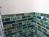 Nw22 Çok Renkli Yeşil Tonlu Tuğla Kendinden Yapışkanlı Esnek Sünger Duvar Paneli