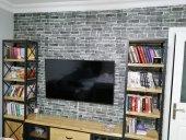 Nw24 Koyu Gri Tonlu Tuğla Duvar Paneli