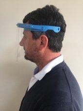 Yüz Göz Koruyucu Şeffaf Siperlik Kalkanı Gözlük Vizör Maskesi-3