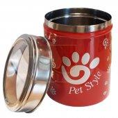 Pet Style Çelik Mama Ve Ödül Saklama Kabı 17 x12 cm
