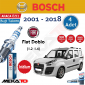 Bosch Fiat Doblo (1.2 1.4) Lpg İridyum (2001 2018) Buji Takımı 4 Ad.