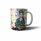 Frida Kahlo İllüstrasyon Tasarım Baskılı  Kupa Bardak - UNL011