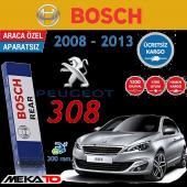 Bosch Rear Peugeot 308 (2008 2013) Arka Silecek (H308) 30 Cm.