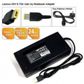 Lenovo 45n0556 4x20e50561 36200314 W540 Adaptör 20v 6.75a Kare Uç