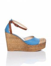 Jolena Bebe Mavisi Hasır Detaylı Sandalet-3