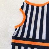 Navy Stripes orange Atlet Köpek Kıyafeti  Köpek Elbisesi-3