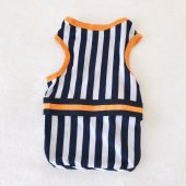 Navy Stripes orange Atlet Köpek Kıyafeti  Köpek Elbisesi-5
