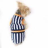 Navy Stripes orange Atlet Köpek Kıyafeti  Köpek Elbisesi-6