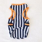 Navy Stripes orange Atlet Köpek Kıyafeti  Köpek Elbisesi-7