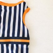 Navy Stripes orange Atlet Köpek Kıyafeti  Köpek Elbisesi-8