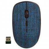 Classone T89 Fabric 2.4 Ghz Kumaş Desen Kablosuz Lacivert Mouse
