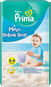 Prima Mayo Bebek Bezi 3 4 Yaş 12li Paket