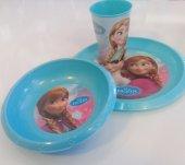 Frozen 3lü Beslenme Seti (Kase,tabak,bardak)