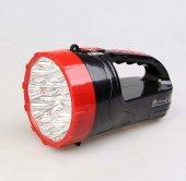 15+6 Ledli Çift Fonksiyonlu Taşınabilir Şarjlı El Feneri Işıldak