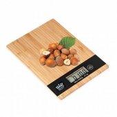 Crown Dijital Lcd Mutfak Tartısı Terazisi 5kg Bambu Desenli