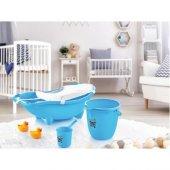 Dünya Plastik 3 Lü Baby Banyo Küvet Set (File Hediyeli)