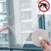 Pencere Cam Sineklik Beyaz (125 Cm X 75 Cm)+4m...