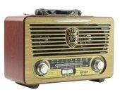 Meier M 115bt Şarjlı Nostaljik Radyo Usb Sd Mp3 Bluetooth