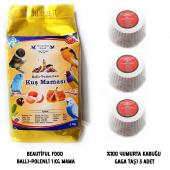 Beautiful Food Ballı Kuş Maması 1 Kg. + 3 Adet...