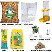Jungle Muhabbet Kuşu Yem Ve İhtiyaç Seti 8...