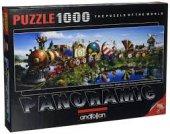 Anatolian Puzzle1000 Pcs Panoramicmasal Treni Story Train