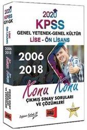 Yargı Yayınları 2020 Kpss Lise Ön Lisans Gy Gk Konu Konu 2006 2018 Çıkmış Sınav Soruları Ve Çözümleri