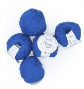 Saks Mavi Slim Cotton İp - 5li Set